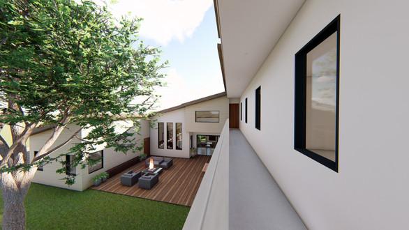 Designed balcony