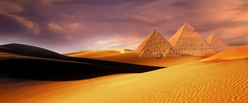 Pyramids of Giza  seen from the desert_Travel Egypt