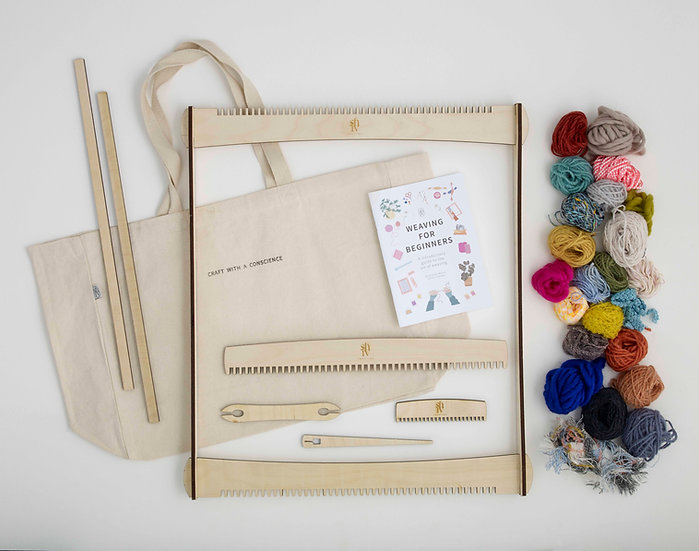 Large Weaving Kit With Yarns & Instruction Booklet