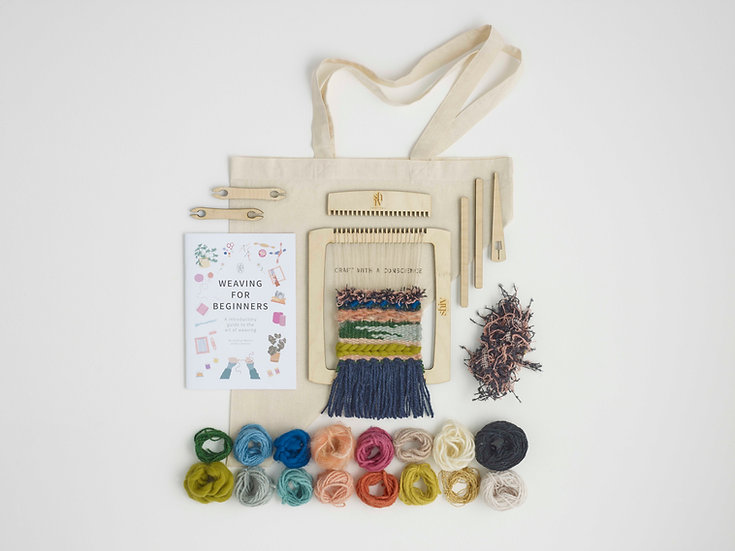 Weaving Kit With Yarns & Instruction Booklet