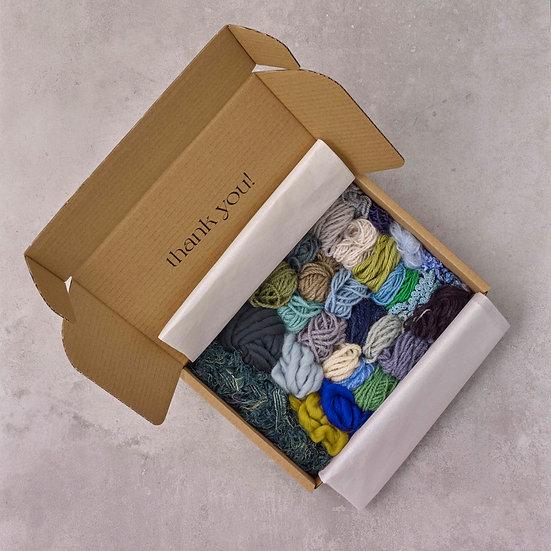 Green, Blue & Purple Yarn Bundle with Weaving Instruction E-Booklet