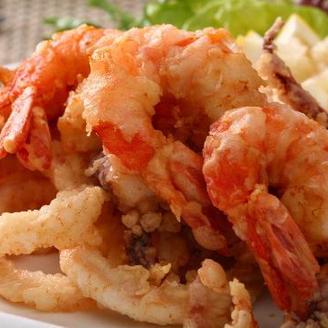Pan Fried Calamari and Jumbo Shrimps SR 65