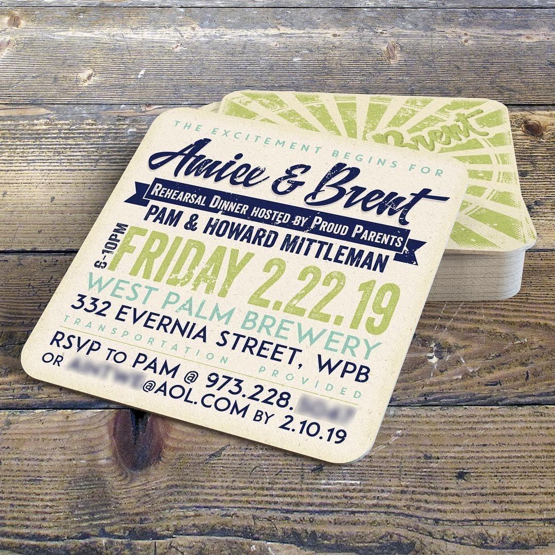 Beverage Coaster/Invitation Design