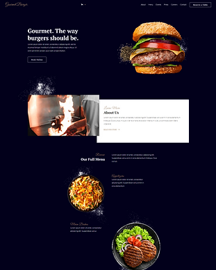 Gourmet Burger - Webflow Ecommerce websi