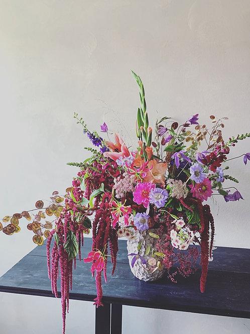 Großer Blumenstrauß inklusive Vase