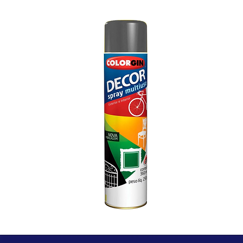 TINTA SPRAY COLORGIN DECOR 8661 GRAFITE METÁLICO 360ML