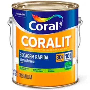 Esmalte Base Água Coralit Zero Acetinado Branco 3,6l