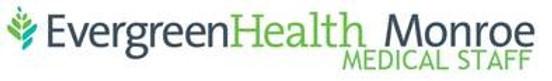 EvergreenHealth Monroe Medical Staff log