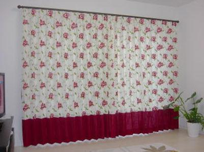 花柄刺繍カーテン