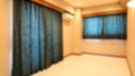 ブルーベロアカーテン