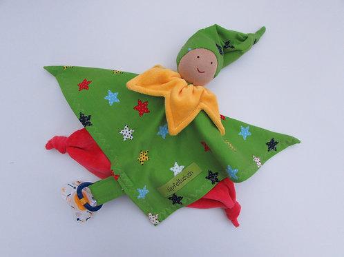 Zipfeltuch - Joggeli rot - grün Sterne