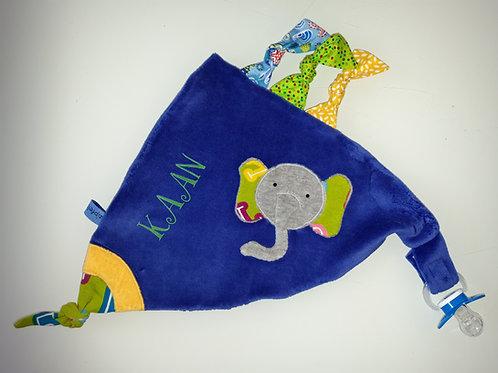 Zipfeltuch mit Name - Elefant
