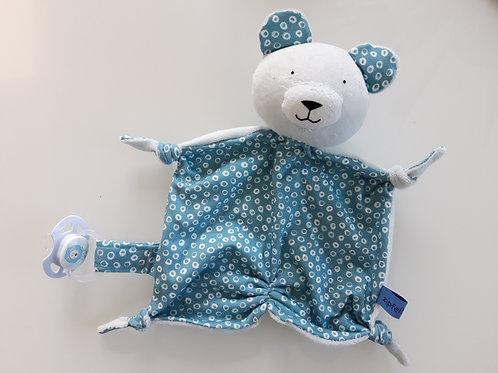 Zipfeltuch - Bär blau