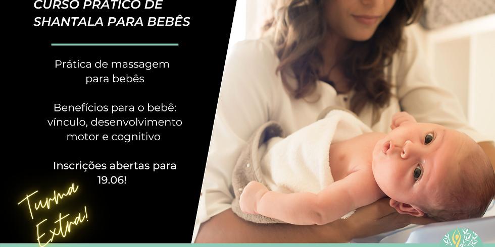 Curso prático de shantala para bebês