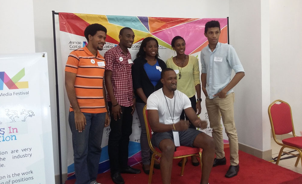 Caiphus Moore and hisbootcamp group at Animae Caribe 2015