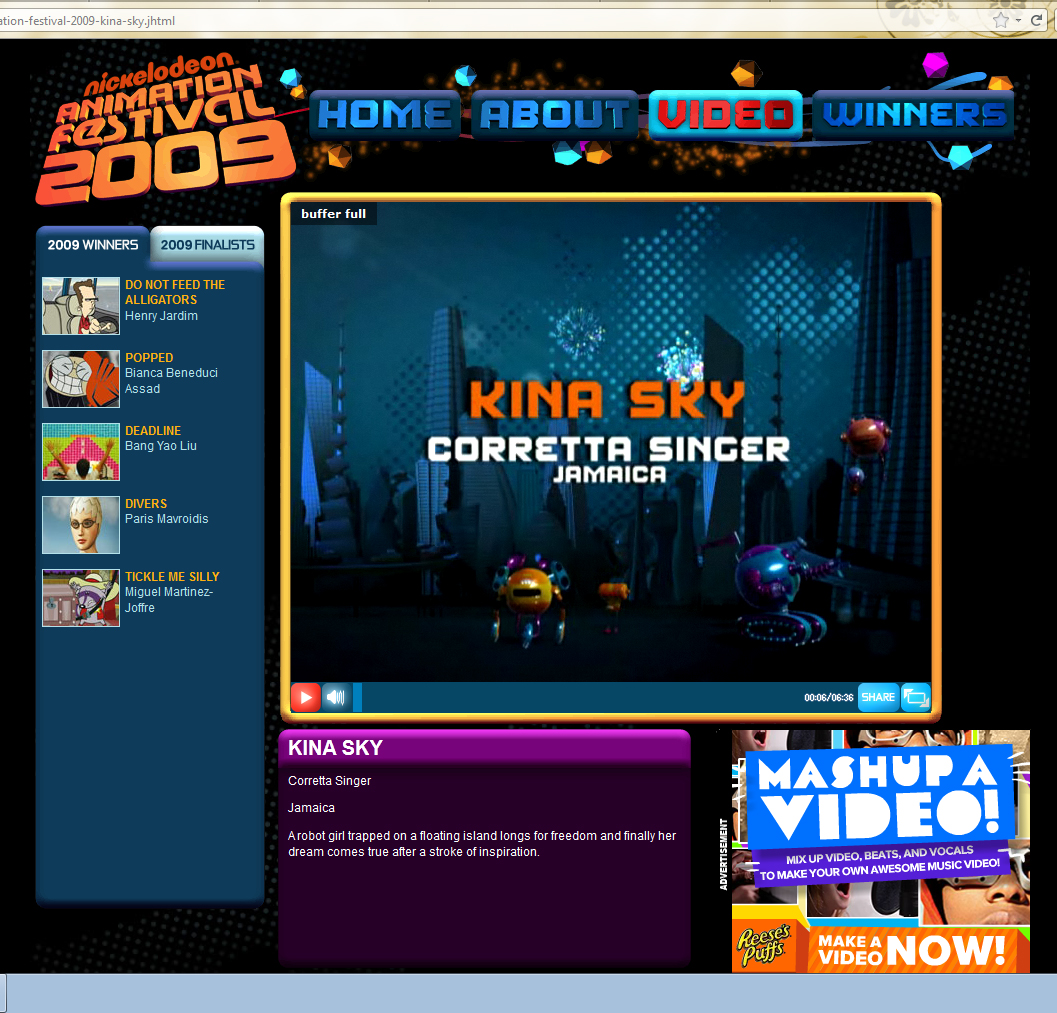 Kina Sky on Nickelodeon