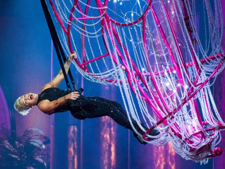 Pink review – gymnastic spectacular from pop's great noncomformist