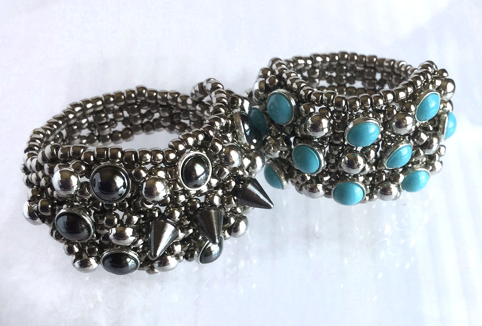Pearls Studs and Spikes Ring