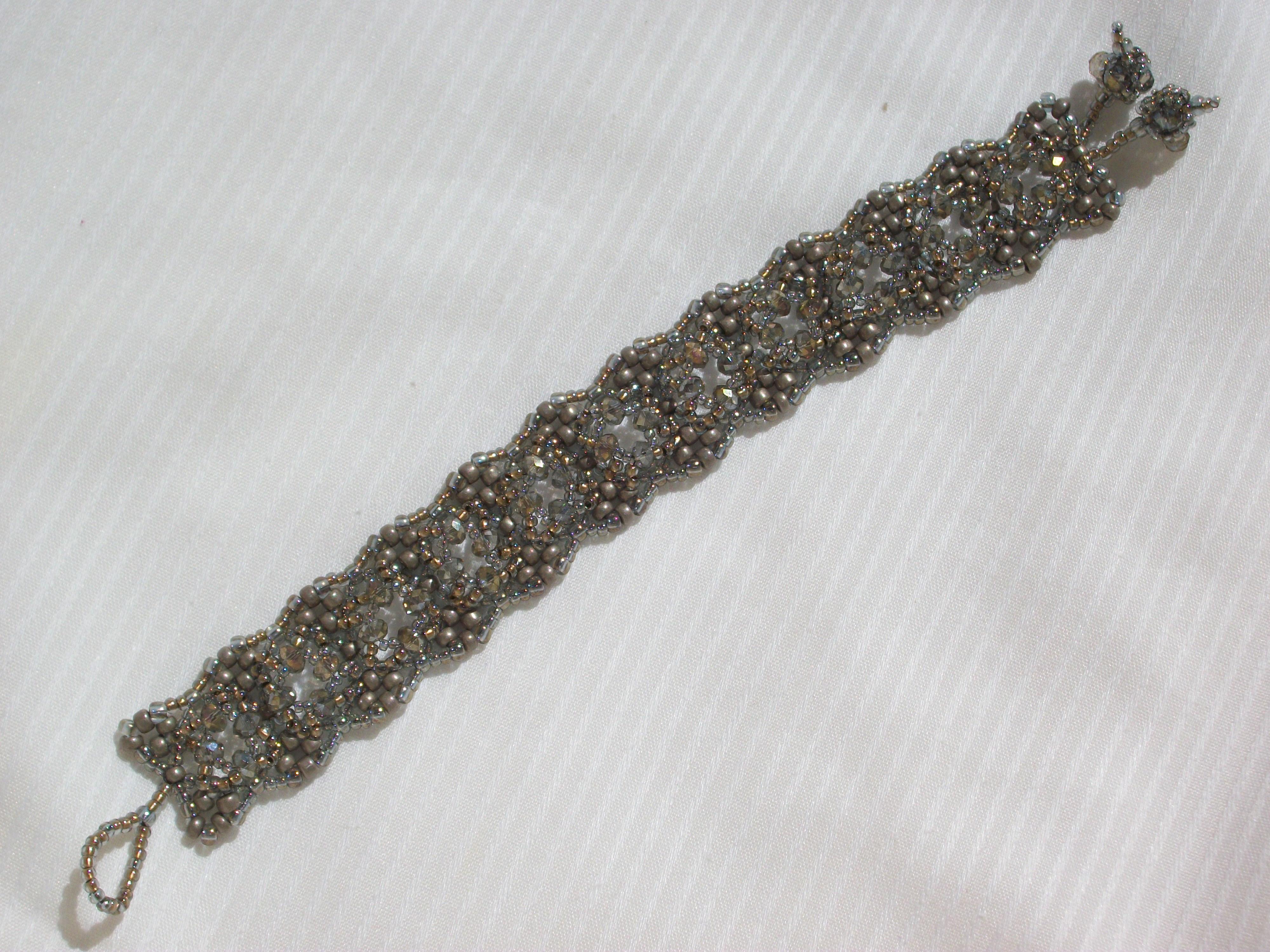 Silver Star Lace Bracelet