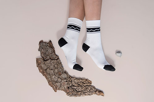 Cotton Socks // RETRO WHITE