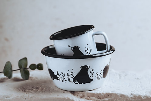 Enamel Breakfast Set // Baby Bear and Big Bear