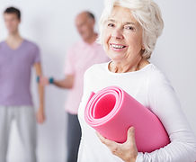 Elderly Woman at Gym, Totally Golden, Cancer Care Group, Personal Training, Exercise for the Elderly
