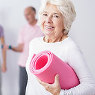 Beautiful Smiles Dentistry Roseville CA Elderly Woman at Gym