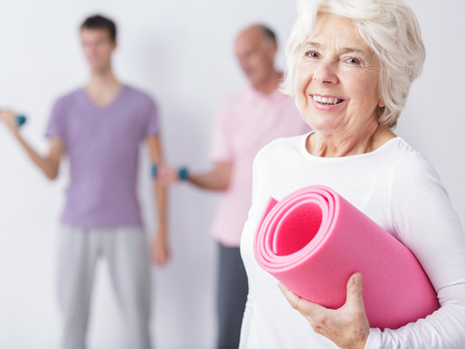 A importância da atividade física para um jovem com mais de 65 anos