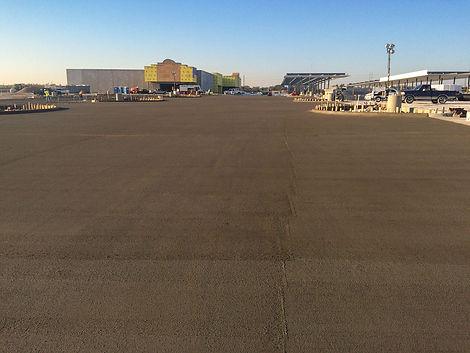 Concrete parking lot Buc-ee's