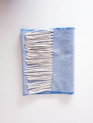 écharpe Chevron Bleue - Ciel 100% laine