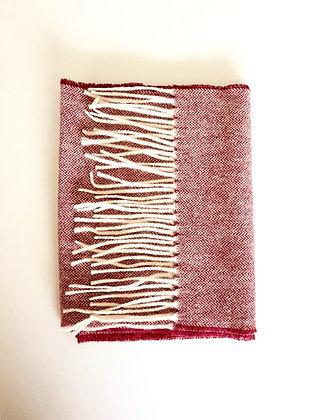 écharpe Chevron Rouge 100% laine