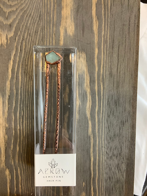 Arrow gemstone hair pin