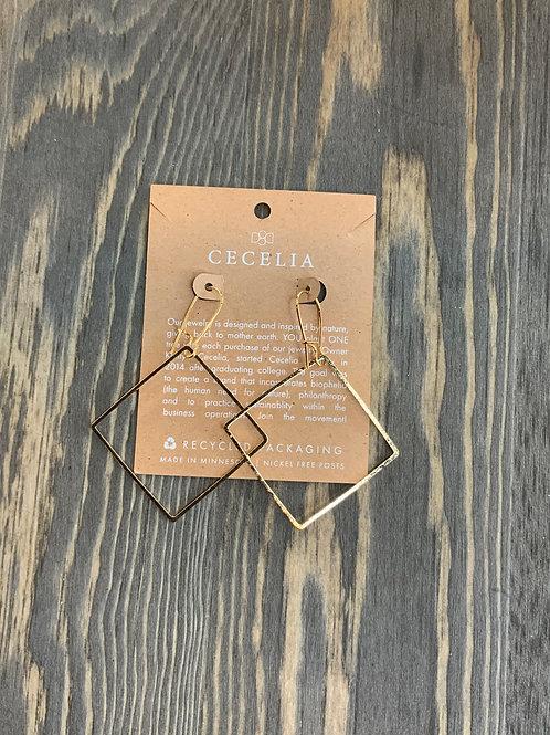 Cecelia Diamond drop earring