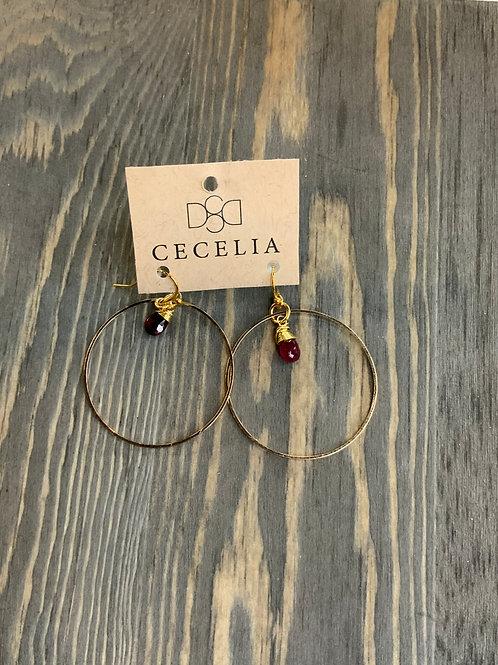 Cecelia round with Gemstone