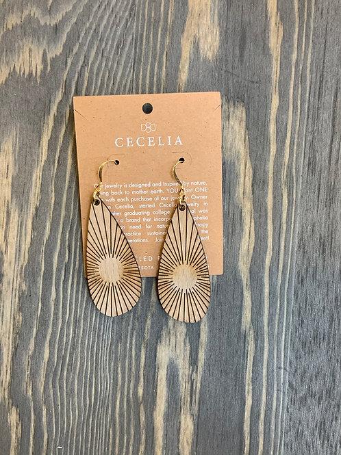 Cecelia wooden earring