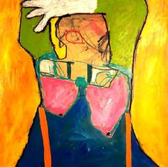 Acrylique, crayon et collage sur papier toilé 50 x 75cm