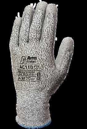 AC110. Anti-Cut HPPE Polyurethane Palm Coated Gloves