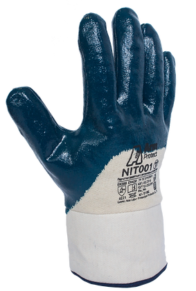 NIT001. Nitrile 3/4 coated glove with jersey line