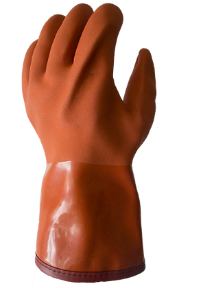 VE760. Insulated PVC Dipped Glove with Smooth Finish on cotton and Acrilic linen