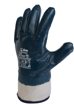 NIT002. Nitrile coated glove on full hand with jersey liner