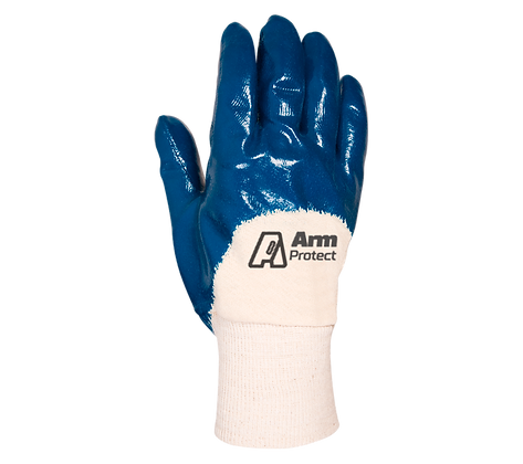 NIT003. Nitrile coated glove on 3/4 with jersey liner
