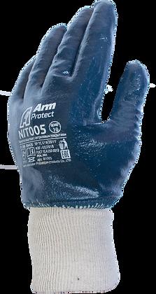 NIT005. Nitrile coated on full hand light glove