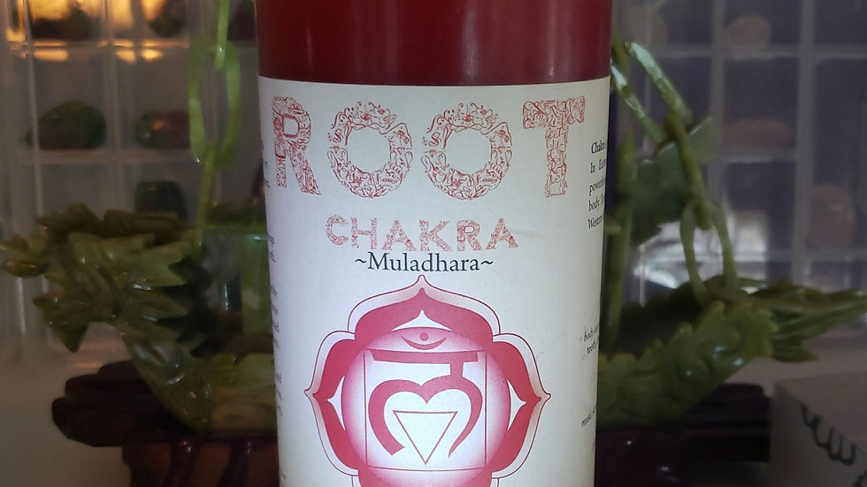 "Root Chakra Pillar 3""x6"" Candle"