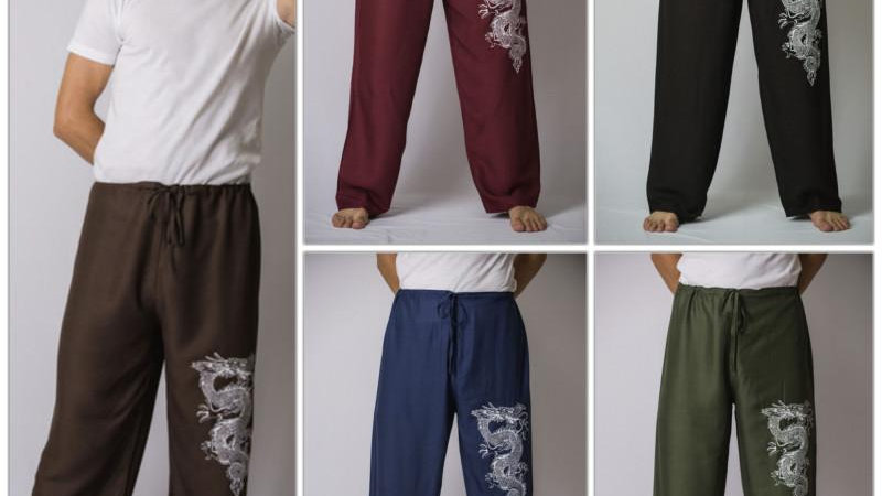 Dragon Pants (Men's Thai Yoga Pants)