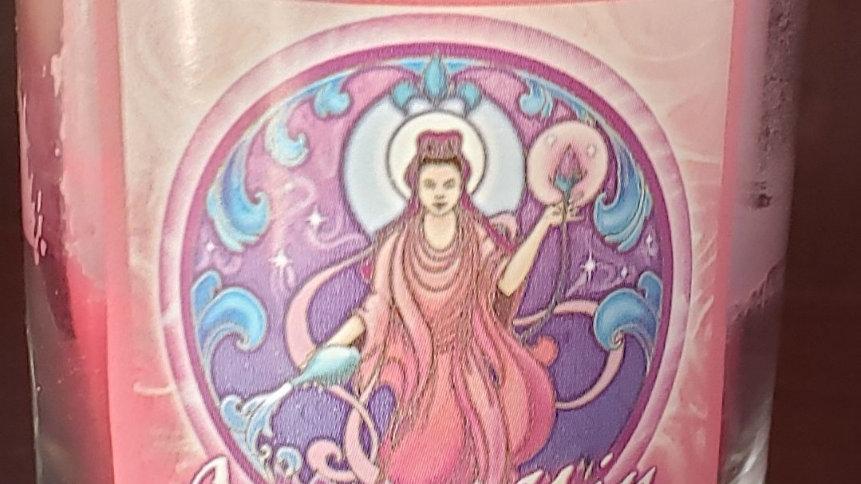Soy Mandala Glass Votive - Quan Yin Forgiveness