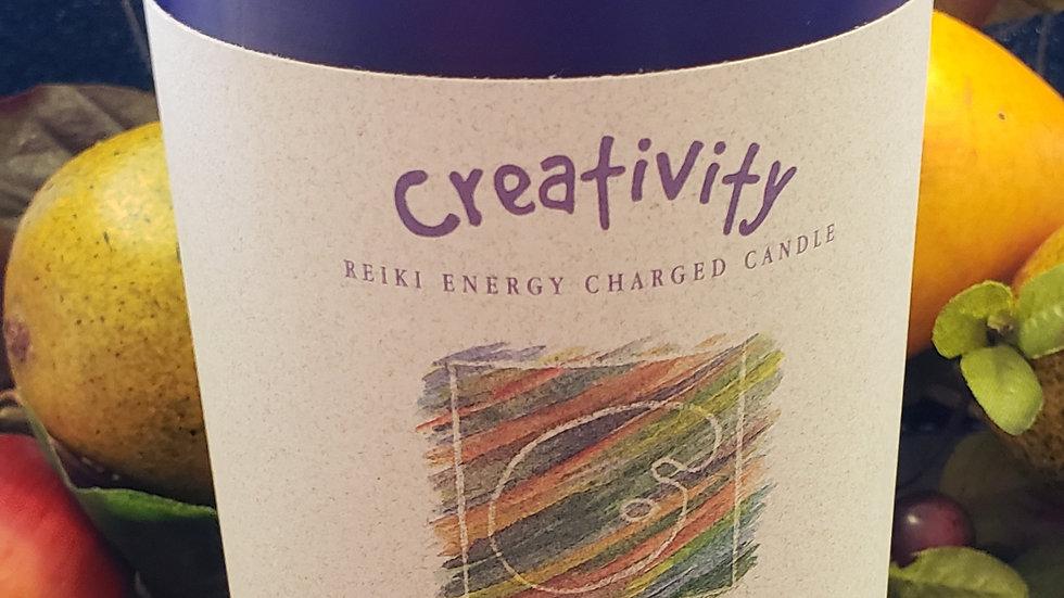 "Creativity - Herbal Pillar 3""x6"" Candle"