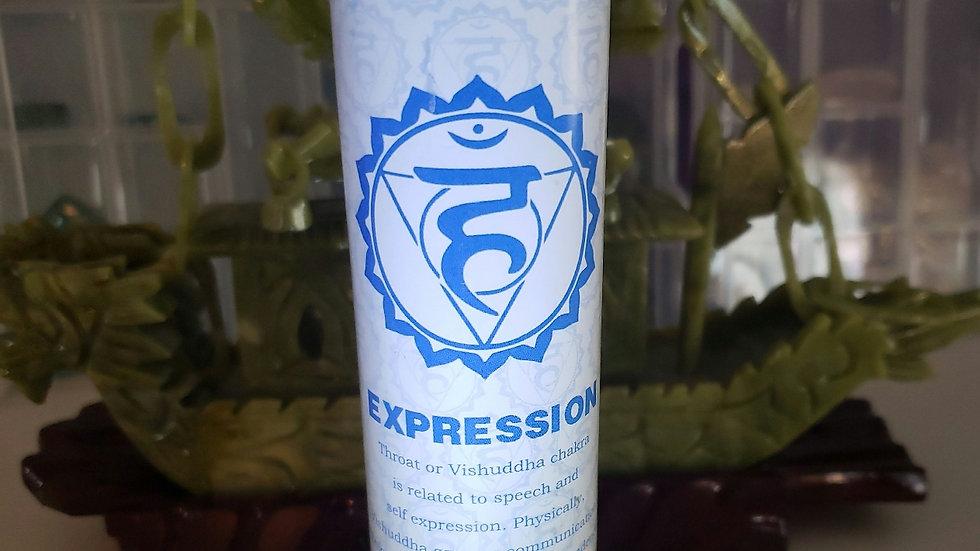 "Throat Chakra Pillar 1""x6"" Candle"