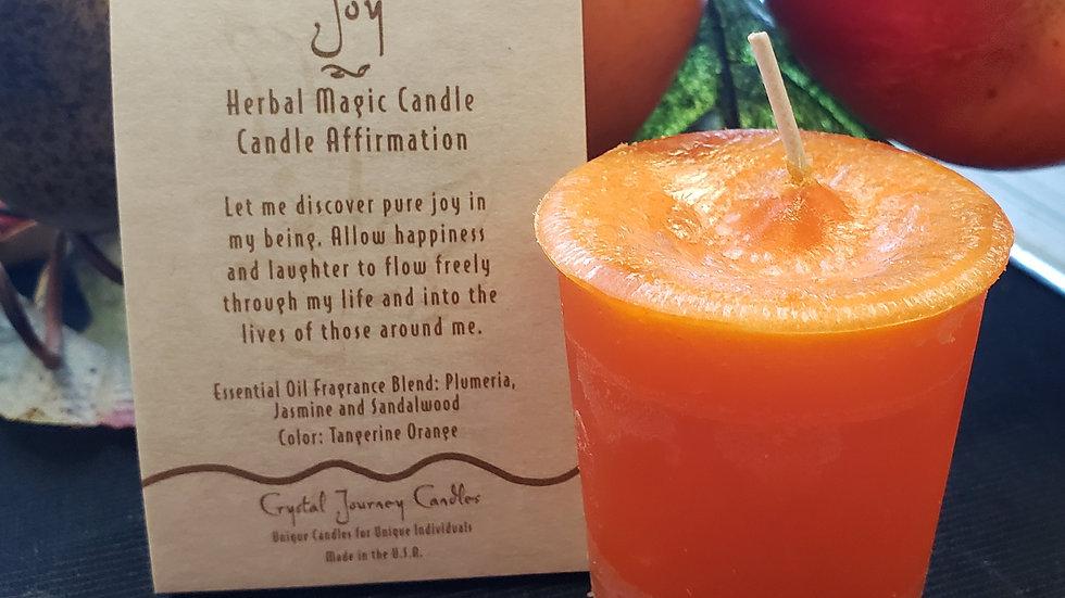 Joy Herbal Votive Candle
