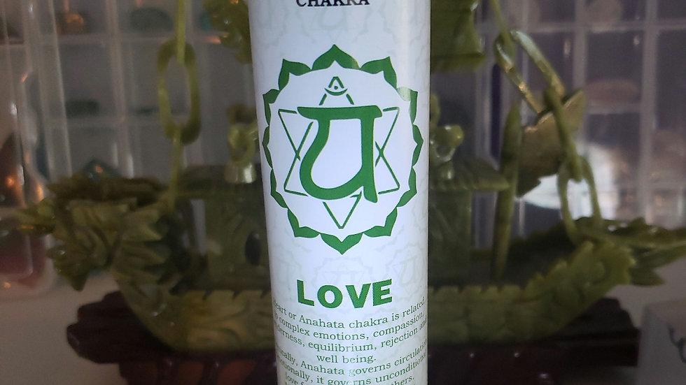 "Heart Chakra Pillar 1""x6"" Candle"