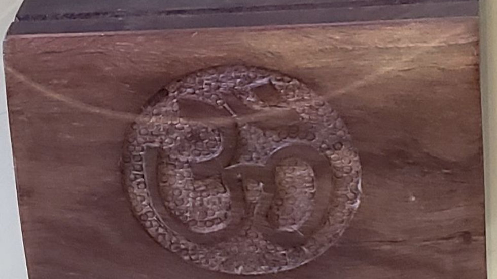 Carved Wooden Box (Om)